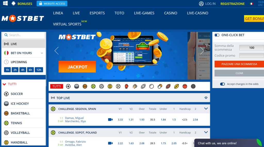 mostbet Scommesse